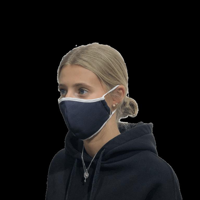 Mund-Nasen-Bedeckung mit Gummiband